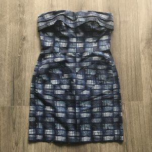 Rachel Roy Ikat Strapless Mini Dress